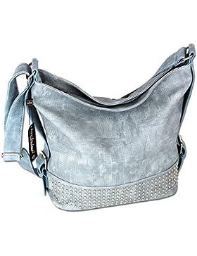 Damen Schultertasche Handtasche XL Umhängetasche 3122