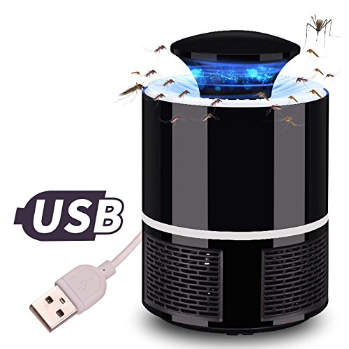 Alician Protable Home Safe USB Photocatalyst Electric LED Mosquito Insect Killer Repeller Lamp Fly Bug Repellent Zapper Black