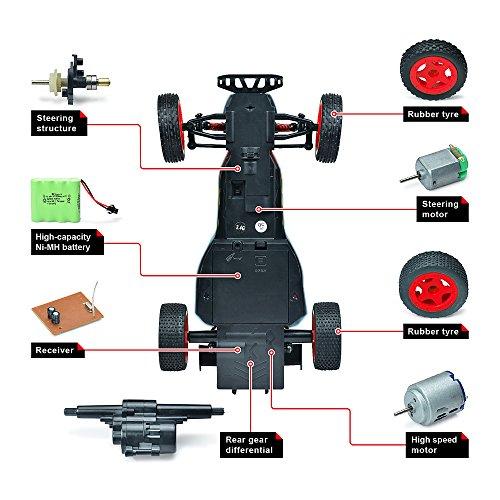 ZFLIN RC Auto 1:16 mit 2.4Ghz Fernsteuerung Monster-Truck RC Buggy elektrischer Hochgeschwindigkeits-Rennwagen mit 2WD und 50m Reichweite der Funkfernsteuerung - 4