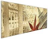 Wallario Küchen-Rückwand | Glas mit Motiv Paris Design - Eiffelturm im Herbst in Premium-Qualität: Brillante Farben, ohne Aufhängung | geeignet zum Verkleben |Spritzschutz Küche Herd Spüle | abwischbar | pflegeleicht