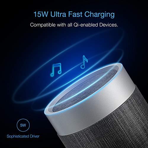 Bluetooth Lautsprecher Speaker mit HiFi Stereo Sound 5 Watt eingebautes Mikrofon Ultra tragbar Perfekt für Zuhause, Schlafzimmer, Küche, Büro oder Auto