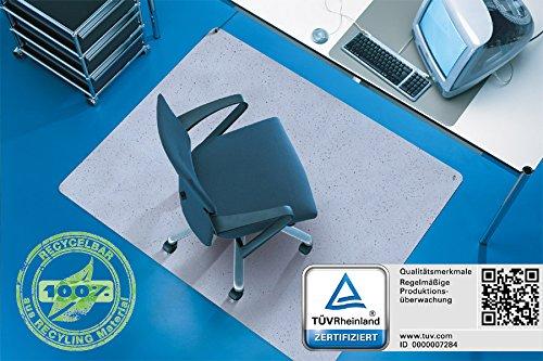 Ableitfähige Antistatikmatte / Bodenschutzmatte aus Kautschuk, 120 x 150 cm, Farbe: Grau, für den Einsatz auf Hartböden und kurzflorigen Teppichböden