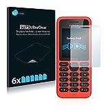 Savvies Nokia 130 Schutzfolie [6er Pack] - Folie Displayschutzfolie klar Displayfolie