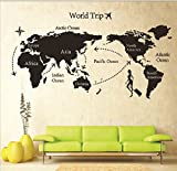 Syga 'DIY World Trip Map Art' Wall Sticker (PVC Vinyl, 61 cm x 5 cm x 5 cm, 9134)