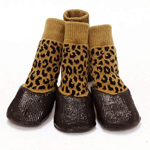 OLADO Bottone in Gomma Scarpe per Cuccioli Calde Stivali Impermeabili per Cani di Grossa Taglia Stivali Multi Colo