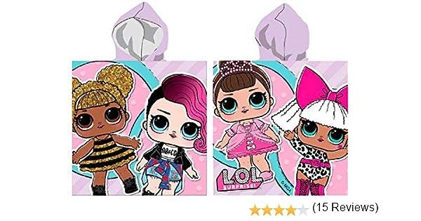 Lol Surprise Serviette De Poncho Plage Piscine Salle De Bains Microfibre Infant 110x55cm Glitter