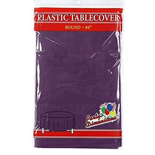 de Kunststoff-Tischdecke - Premium Qualität Einweg-Party-Tischdecken für Partys und Veranstaltungen, 213,4 cm, plastik, violett, 4er-Packung ()