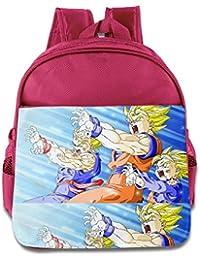 Kids Dragon Ball Z School Backpack Cute Baby Boys Girls School Bag Pink