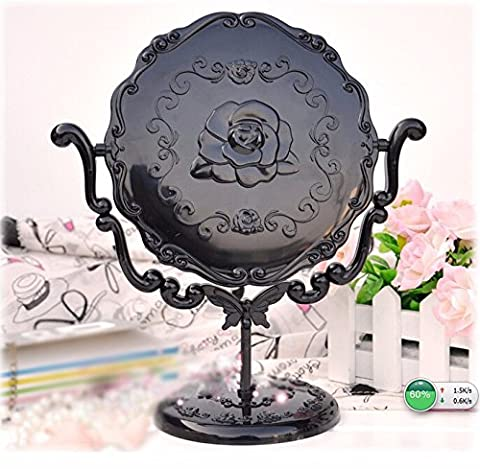 Miroir New Baroque Design Sur Pied Vintage Retro Decoratif Glace Femme Maquillage Ornement Le noir Se