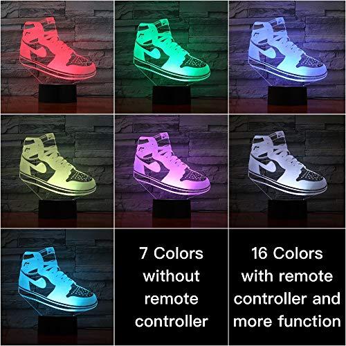 Sproud Shoes Lampe - S4 7 Farbe Touch Schuhe Basketball Lampe Nacht Dekor / 3D Illusion Touch Sensor Jungen Kinder Geschenk/LED Nachtlicht