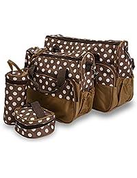 Hannea Multi-functional Polka Dot Print Zipper Closure Baby Bag Set