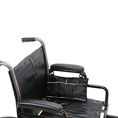 Bolsa de almacenamiento segura para silla de ruedas – bolsa de accesorios de movilidad para ancianos, personas mayores, discapacitados – manos libres Tote Caddy HZC139, color negro