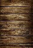#10: AOFOTO 5x7ft Old Wooden Plank Photography Studio Background Grunge Shabby Wood Board Backdrops Weathered Worn Hardwood Floor Artistic Portrait Nostalgic Vintage Photo Shoot Studio Props Video Drape
