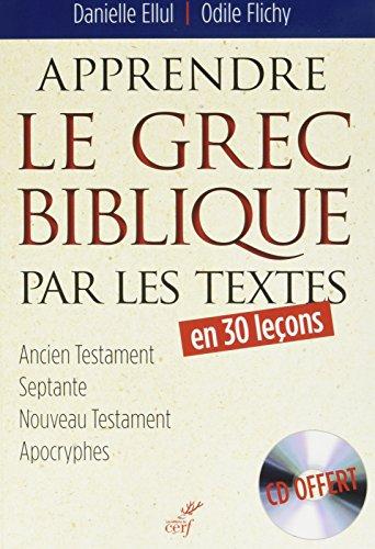 Apprendre le grec biblique par les textes (1CD audio)