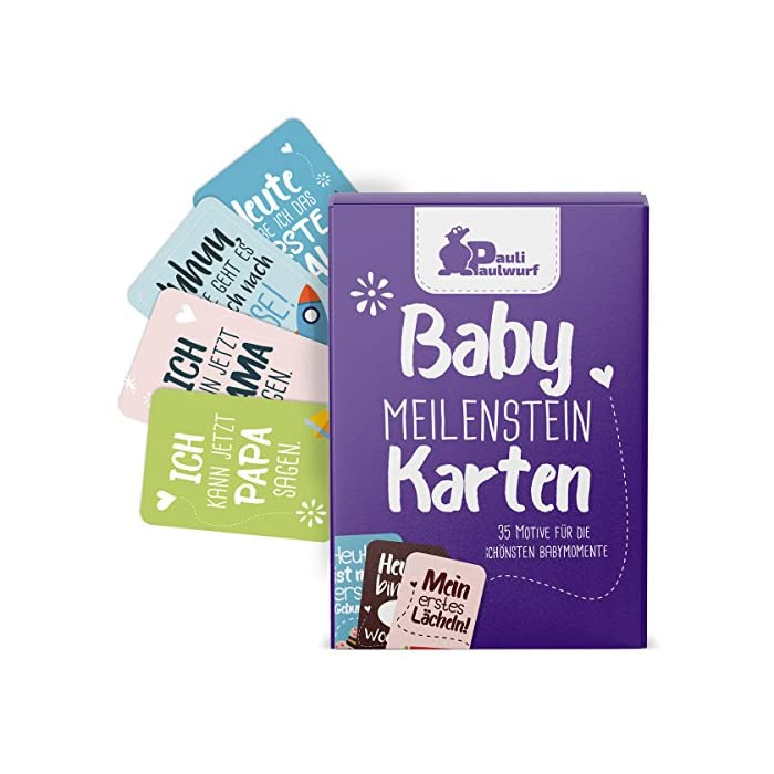 Baby Meilenstein-Karten für das 1. Lebensjahr - 35 liebevoll gestaltete Karten - Ideal als Geschenk zur Geburt…