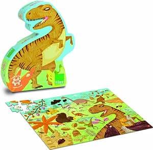 Vilac - 2611 - Puzzle En Bois - Dinosaures - 100 Pièces