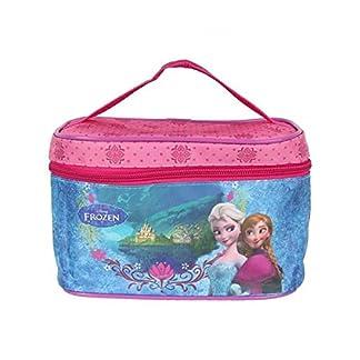 Neceser de maquillaje, diseño de La película Frozen, color rosa, tamaño