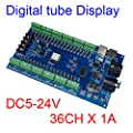 36 Channel 12 Group DMX512 Decoder Controller 36CH RGB Output Digital Tube Display For LED Strip Light RGB Dump Node DC5-24V