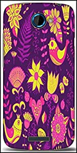Snoogg Seamless Texture With Flowers Designer Protective Back Case Cover For HTC One S