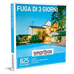 Idea Regalo - SMARTBOX - Cofanetto regalo coppia- idee regalo originale -  3 giorni Riposante momenti con un weekend fuoriporta
