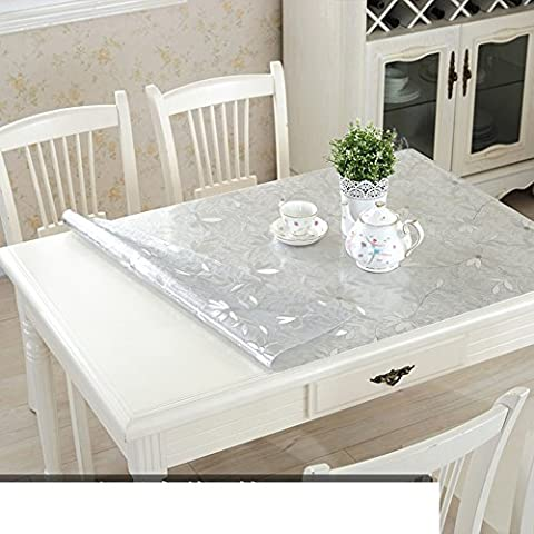 Glass, PVC Table Cloth/Waterproof And Anti-hot Table Mat/Tablecloth/Plastic Coffee Table Desk Pad/Crystal Edition-B