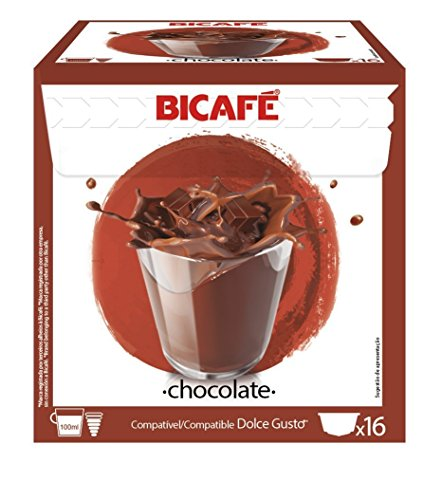 Get BiCafe ® HOT CHOCOLATE Dolce Gusto ® Compatible Coffee Machine Capsules x 16 by BiCafe