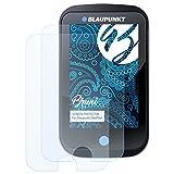 Bruni Schutzfolie kompatibel mit Blaupunkt BikePilot Folie, glasklare Bildschirmschutzfolie (2X)