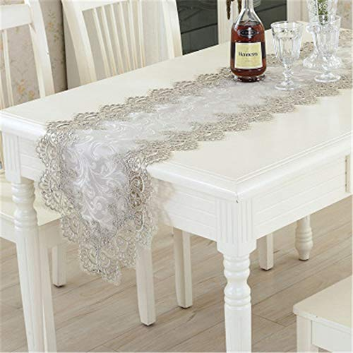 XYAZ Europäische einfarbig Couchtisch Tuch Spitze Tisch Flagge Stuhlabdeckung Kissen Set Tisch Tischset Quadrat Tischabdeckung Handtuch Hellgrau (Papier-handtuch-halter Mit Herz)