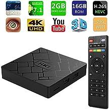 [2018 Latest Version] SeeKool Android TV Box 7.1,Amlogic Quad-Core A53 64 Bits Réel UHD 4K*2K 3D, 2GB RAM 16GB ROM Smart Box avec WiFi 2.4Ghz / HDMI/H.265 /USB * 2