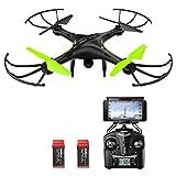 Potensic Drone con Telecamera, U42W Aggiornato WiFi FPV 2.4Ghz Hover Droni...