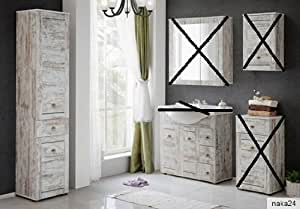hochschrank waschbeckenunterschrank provence 85 shabby chic. Black Bedroom Furniture Sets. Home Design Ideas