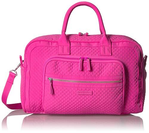 Vera Bradley Damen Iconic Compact Weekender Travel Bag, Microfiber Wochenendtasche, Rose Petal, Einheitsgröße - Vera Bradley Rosa