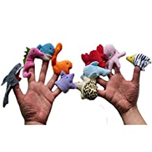 Ouneed®1 set Marionettes a Doigts Style Animaux