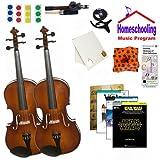 homeschool Musik–Lernen Die Viola Eltern & Kind Pack (Star Wars Buch Bundle)–inkl. zwei Student 40,6cm Bratschen W/Fall, Schleife, Bücher & All Inclusive Learning Essentials