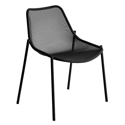 emu Round Gartenstuhl, schwarz matt Stahl