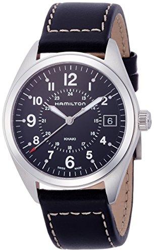 hamilton orologio analogico quarzo uomo con cinturino in pelle h68551733