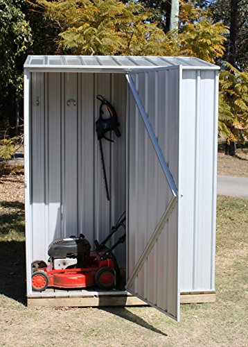 5x3 silver emerald metal shed no windows single door pent for Garden room 5x3