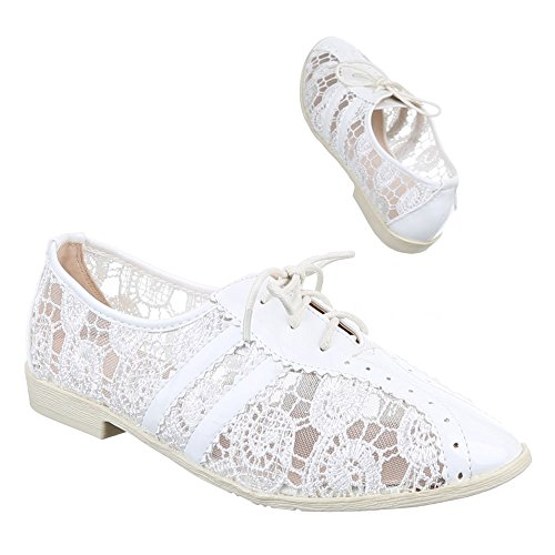 Branco Sapatos Das Com Baixos Sapatas M521 Laço Senhoras gaRqwIIn0