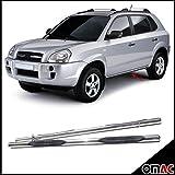 OMAC GmbH Hyundai Tucson Trittbretter Schwellerrohre ø70mm V2A Edelstahl Chrom 2004-2009
