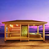 EO-SPA Sauna LT06 rote Zeder 650x350 9kW Vitra -
