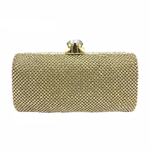 Frauenabendtasche Diamant Handtasche Luxus-Diamant-Paket Yellow