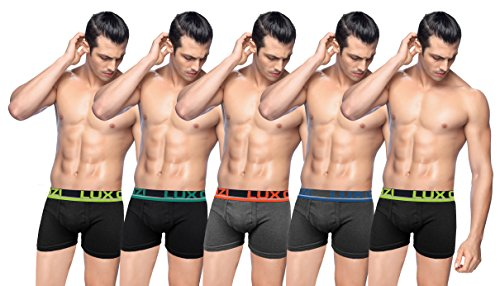 Lux Cozi Glo Men's Front Open Cotton Drawers (pack Of 5)