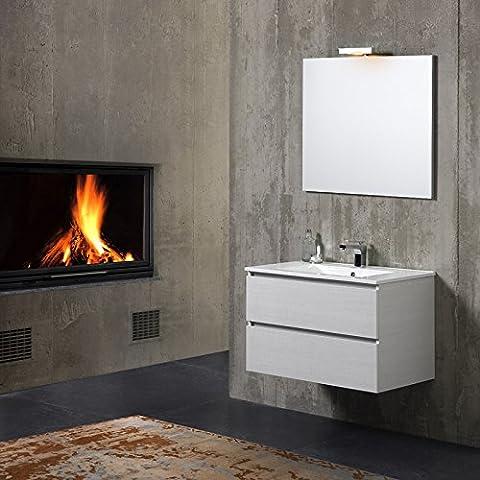 Badmöbel Badezimmer-Schrank 80 cm mit Keramik Waschbecken BERLIN