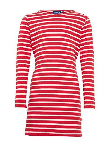 TOM TAILOR für Mädchen Kleider & Jumpsuits gestreiftes Kleid mit Bindeband pinky red 92/98