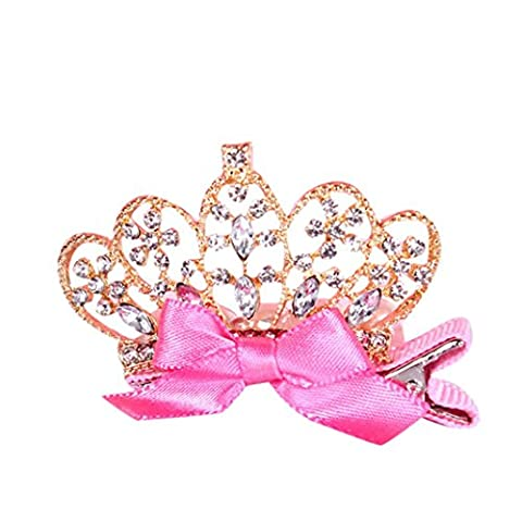 Crown Hair Ornaments,Kids Girls Baby Crown Hair Clips Hairpin Princess