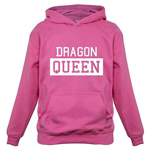 Dragon Gerippte T-shirt (Dragon Queen - Kinder Hoodie/Kapuzenpullover - Rosa - XS (1-2 Jahre))