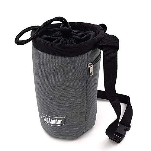 Chalk Bag-Bolsa Magnesio Polvo Gris Para Alpinismo