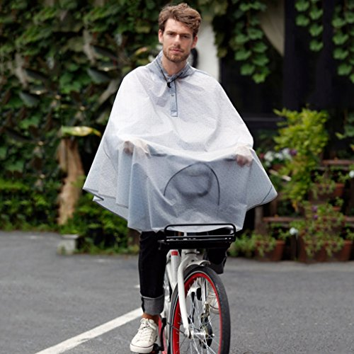 LT Bicycle Poncho Transparent Hooded Riding Raincoat Men And Women