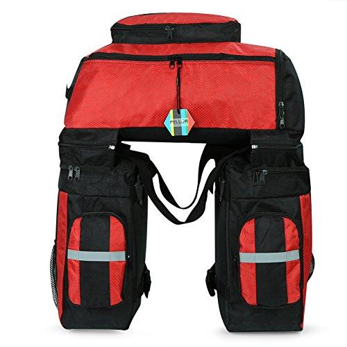 Pellor Fahrrad Gepäcktaschen, 3 in 1 Multifunction 70L Gepäckträger Tasche Reißfest Groß Fahrradtaschen mit Regen-Abdeckung