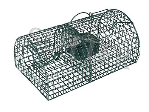 Rattenfalle / Kleintierfalle 40x24x18cm - Lebendfalle für den Massenfang / Drahtkastenfalle